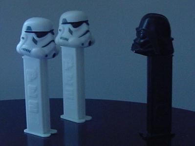 Darth Pez at work