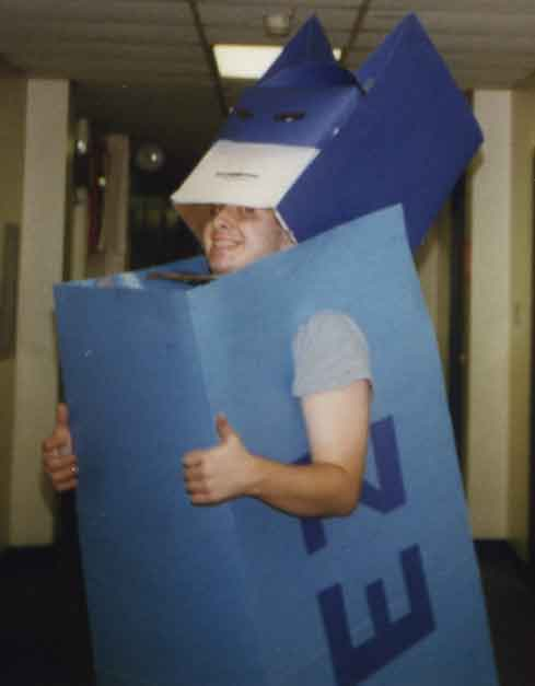 My creative yet ill-fated Pez dispenser costume.